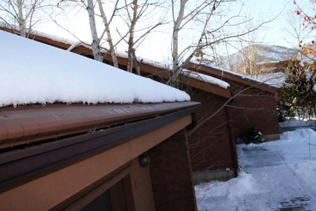 A Heated Gutter Guard Protects Your Home in Winter
