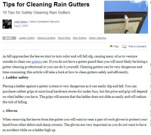 Tips for Cleaning Rain Gutters image