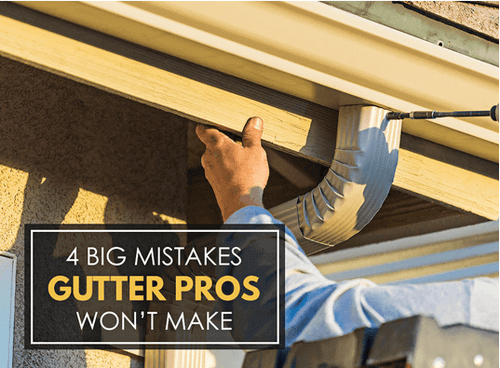 Mistakes Gutter Pros Won't Make