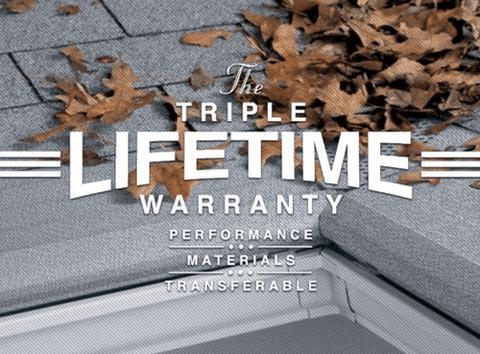 Gutter Helmet's Triple Lifetime Warranty