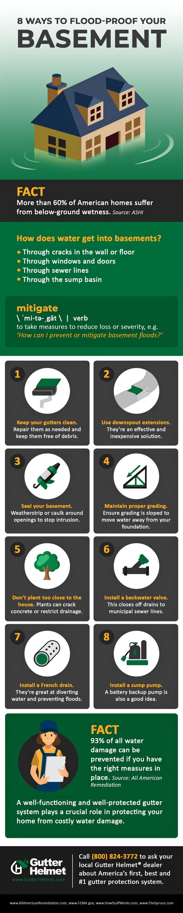 Infographic: 8 Tips For Flood-proofing A Basement