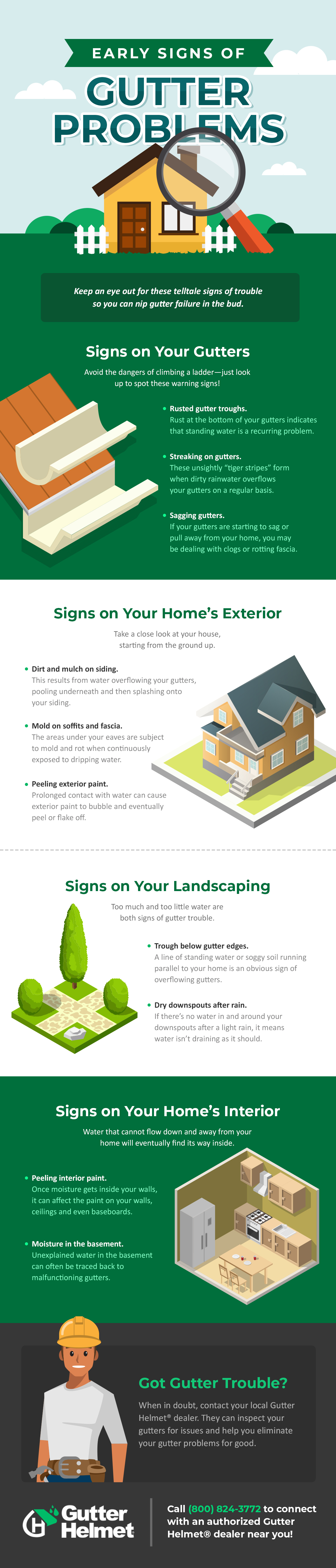 Infographic: Early Signs Of Gutter Problems