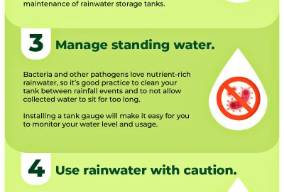 Rainwater Harvesting Safety Tips